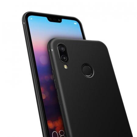 Husa Huawei P20 Lite Silicon Matte Ultra Thin - negru1