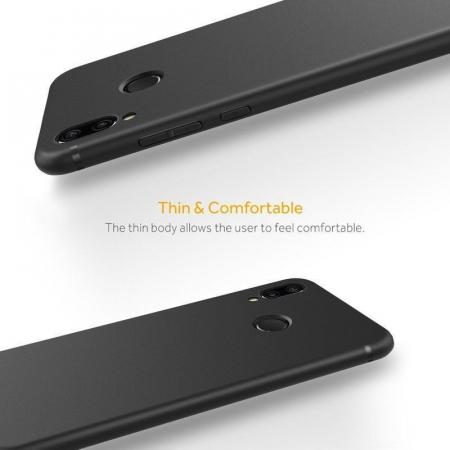 Husa Huawei P20 Lite Silicon Matte Ultra Thin - negru2