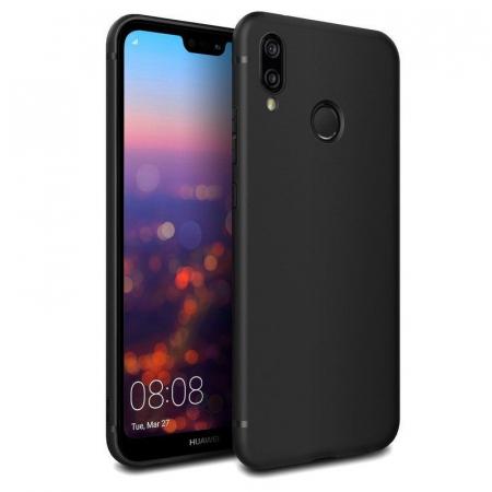 Husa Huawei P20 Lite Silicon Matte Ultra Thin - negru0