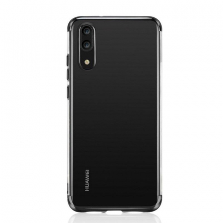Husa    Huawei P20 Lite Silicon TPU Plating Ultra Thin  - negru2
