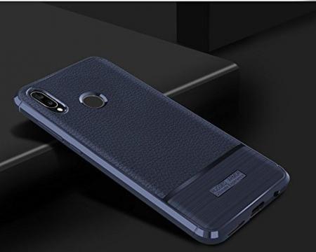 Husa Huawei P20 Lite Grain Silicon Tpu - albastru1