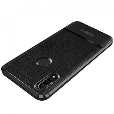 Husa Huawei P20 Lite Grain Silicon Tpu - albastru5