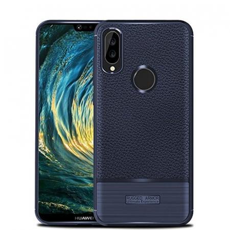 Husa Huawei P20 Lite Grain Silicon Tpu - albastru0