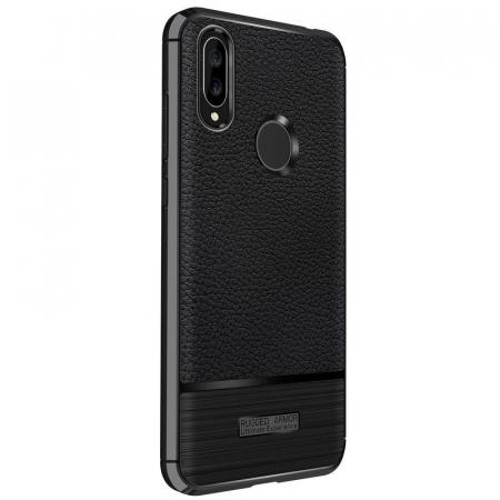 Husa Huawei P20 Lite Grain Silicon Tpu - negru1