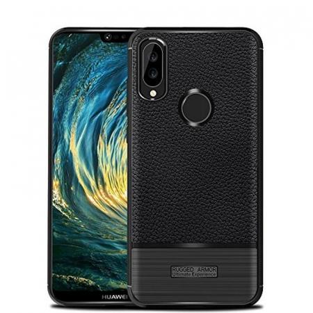 Husa Huawei P20 Lite Grain Silicon Tpu - negru0