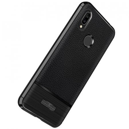 Husa Huawei P20 Lite Grain Silicon Tpu - negru2
