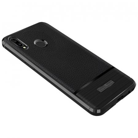 Husa Huawei P20 Lite Grain Silicon Tpu - negru4