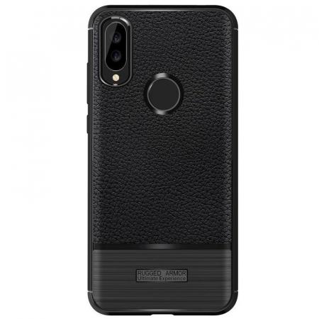 Husa Huawei P20 Lite Grain Silicon Tpu - negru6