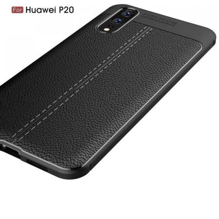 Husa Huawei P20 Tpu Grain - negru2