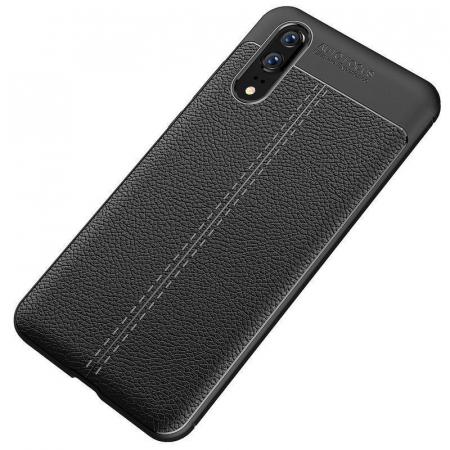 Husa Huawei P20 Tpu Grain - negru1