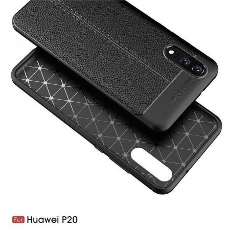 Husa Huawei P20 Tpu Grain - negru3