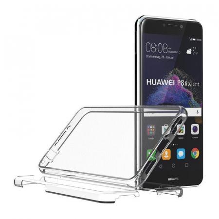 Husa   Huawei  P9 Lite 2017 / P8 Lite 2017 Silicon TPU 360 grade - transparent3