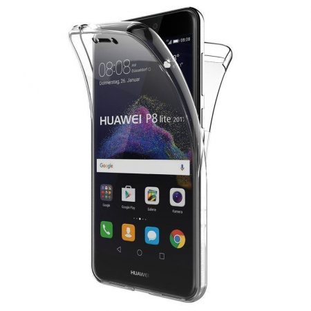 Husa   Huawei  P9 Lite 2017 / P8 Lite 2017 Silicon TPU 360 grade - transparent0