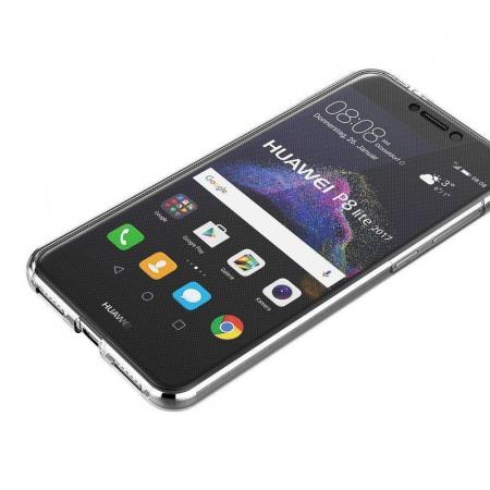 Husa   Huawei  P9 Lite 2017 / P8 Lite 2017 Silicon TPU 360 grade - transparent5