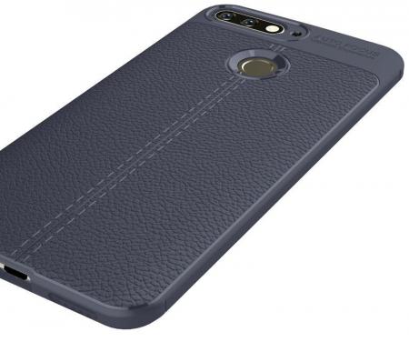 Husa Huawei Y6 ( 2018 ) Grain Silicon Tpu - albastru2