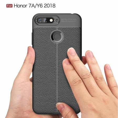 Husa Huawei Y6 ( 2018 ) Grain Silicon Tpu - negru6