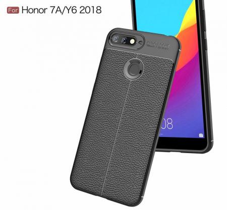 Husa Huawei Y6 ( 2018 ) Grain Silicon Tpu - negru2