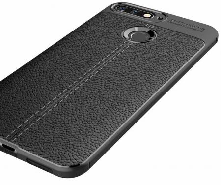 Husa Huawei Y6 ( 2018 ) Grain Silicon Tpu - negru1