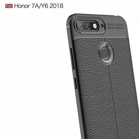 Husa Huawei Y6 ( 2018 ) Grain Silicon Tpu - negru3