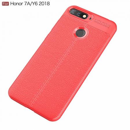 Husa Huawei Y6 ( 2018 ) Grain Silicon Tpu - rosu2