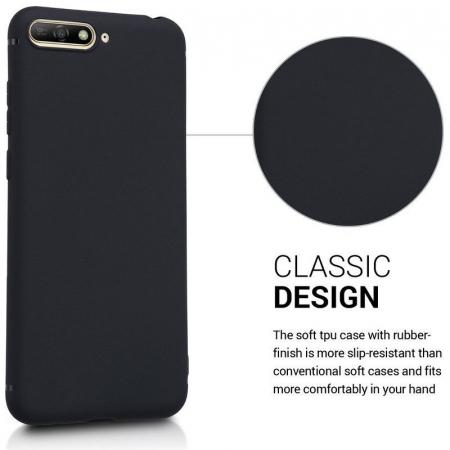 Husa Huawei Y6 2018 Silicon Matte Ultra Thin - negru1