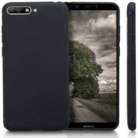 Husa Huawei Y6 2018 Silicon Matte Ultra Thin - negru2