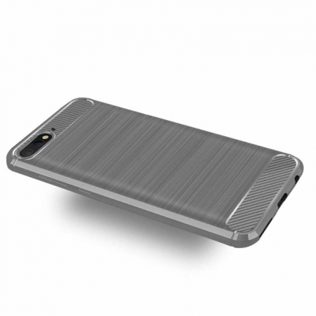 Husa Huawei Y6 ( 2018 ) Silicon Tpu Carbon Brushed - gri1