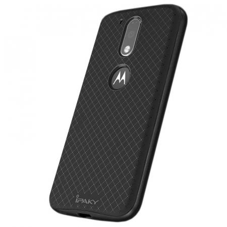 Husa Motorola Moto G4 Ipaky gray - negru1