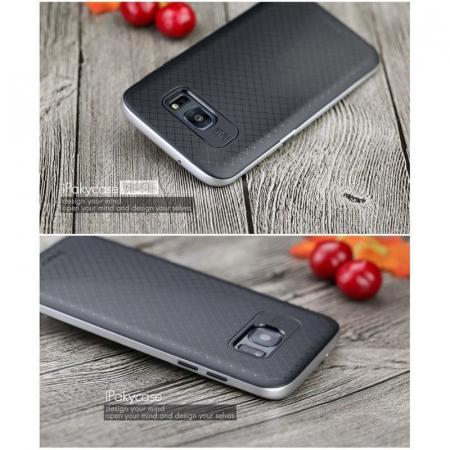 Husa Ipaky Samsung Galaxy S7 Edge - argintiu5