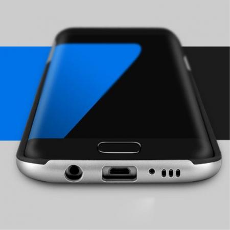 Husa Ipaky Samsung Galaxy S7 Edge - argintiu3