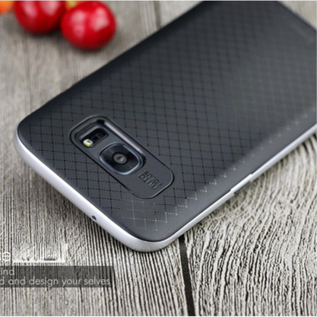 Husa Ipaky Samsung Galaxy S7 Edge - argintiu1