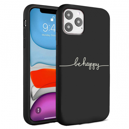 Husa iPhone 11 - Silicon Matte - Be Happy [2]
