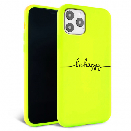 Husa iPhone 11 - Silicon Matte - Be Happy [0]