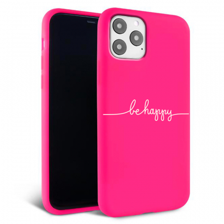 Husa iPhone 11 - Silicon Matte - Be Happy [3]