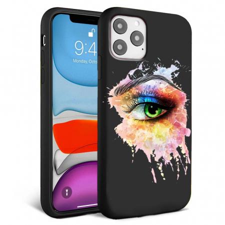 Husa iPhone 11 - Silicon Matte - Colored eye [2]
