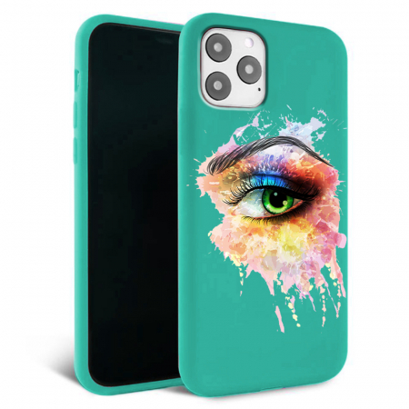 Husa iPhone 11 - Silicon Matte - Colored eye [0]