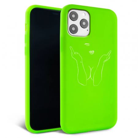 Husa iPhone 11 - Silicon Matte - F ck off [4]