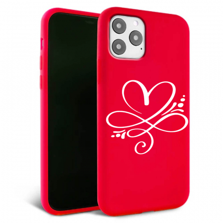 Husa iPhone 11 - Silicon Matte - Heart 2 [1]