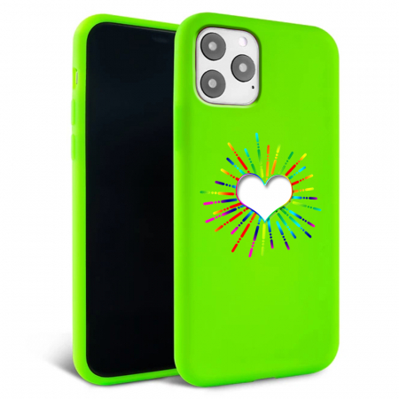 Husa iPhone 11 - Silicon Matte - Heart 3 [1]