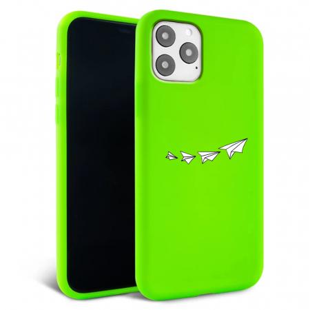Husa iPhone 11 - Silicon Matte - Paper plane [1]