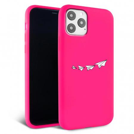 Husa iPhone 11 - Silicon Matte - Paper plane [3]