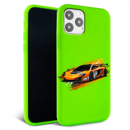 Husa iPhone 11 - Silicon Matte - Racing car [6]
