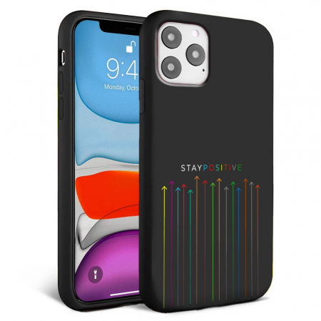 Husa iPhone 11 - Silicon Matte - Stay Positive [0]