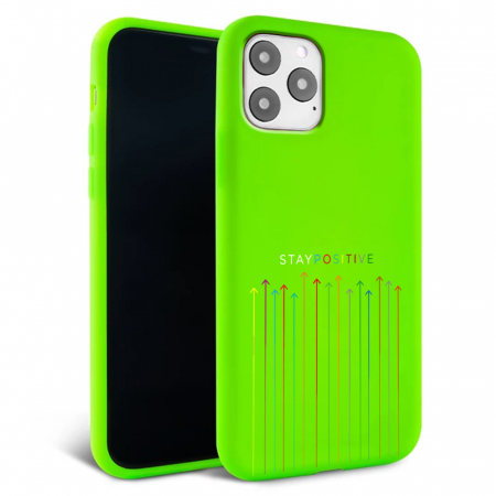 Husa iPhone 11 - Silicon Matte - Stay Positive [2]