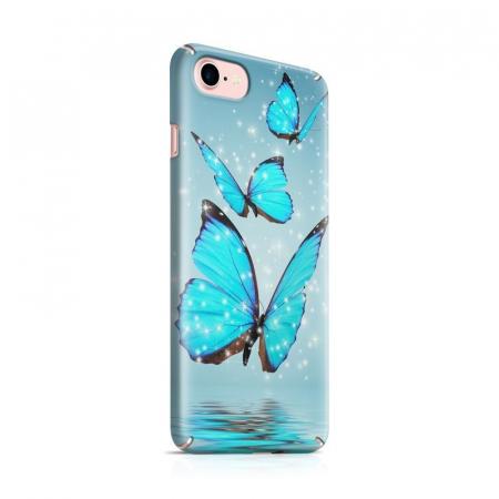 Husa iPhone 6 Custom Hard Case Blue Butterflys0