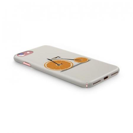 Husa iPhone 6 Custom Hard Case Orange Bicycle2