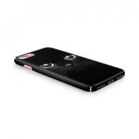 Husa iPhone 7 Custom Hard Case Black Cat1
