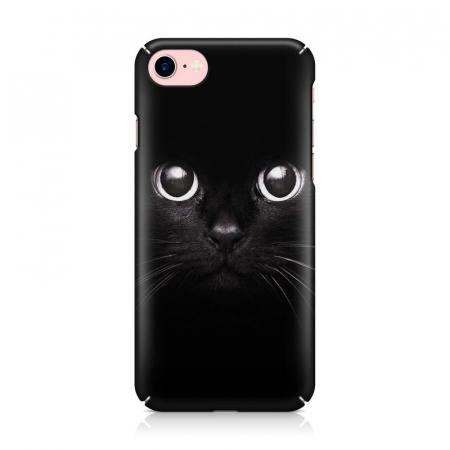 Husa iPhone 7 Custom Hard Case Black Cat2