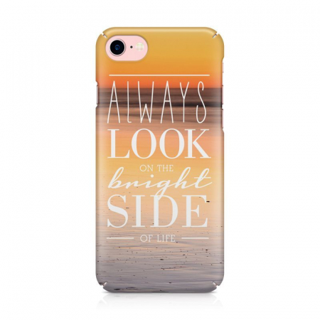 Husa iPhone 7 Custom Hard Case Blue Bright Side2