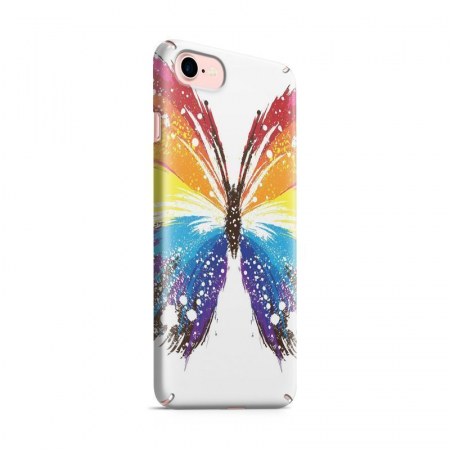Husa iPhone 7 Custom Hard Case Blue Butterfly0